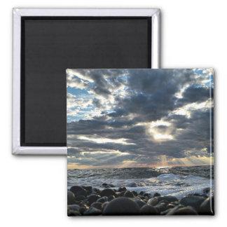 Sunbeams on a Rocky Shore Magnet