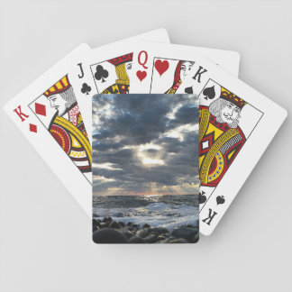 Sunbeams on a Rocky Shore Playing Cards