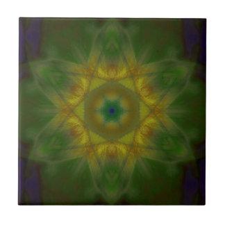 Sunbow Mandala Small Square Tile