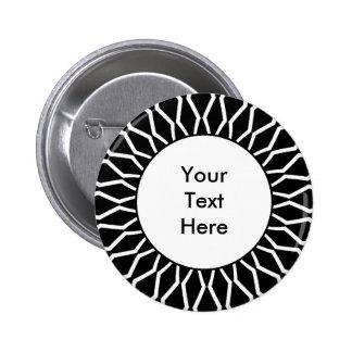 Sunburst 07 6 cm round badge