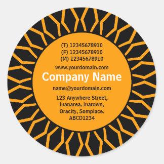 SunBurst 07 Business - Orange Round Sticker