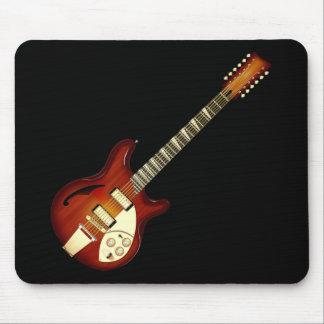 Sunburst 12 String Semi-hollow Guitar Mouse Pads