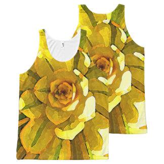 Sunburst Aeonium Succulent Square by Amy Vangsgard All-Over Print Singlet