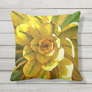 Sunburst Aeonium Succulent Throw Pillow