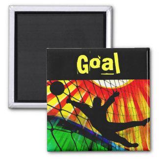 Sunburst and Net Soccer Goalie Fridge Magnet