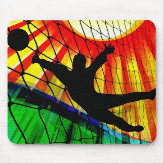 Sunburst and Net Soccer Goalie Mouse Pad