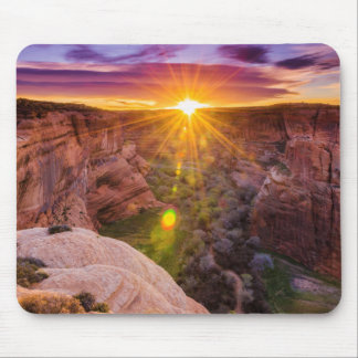 Sunburst at Canyon de Chelly, AZ Mouse Pad