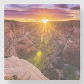 Sunburst at Canyon de Chelly, AZ Stone Coaster