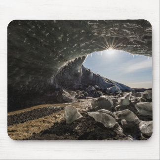 Sunburst at ice cave entrance mouse pad