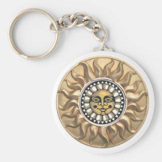 Sunburst basic button keychain