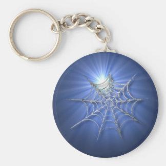 Sunburst Cobweb Halloween Keychain