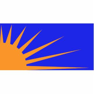 Sunburst, Colombia Political flag Photo Sculptures