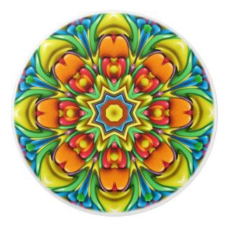 Sunburst Colorful Ceramic Knob