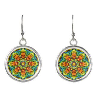 Sunburst Colorful Drop Earrings