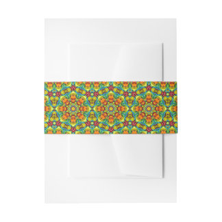 Sunburst Colorful Invitation Bellybands Invitation Belly Band