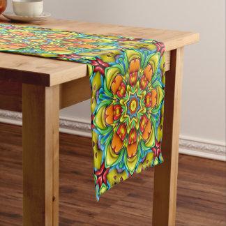 Sunburst Colorful Kaleidoscope   Table Runner
