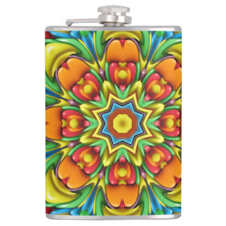 Sunburst Colorful Vinyl Wrapped Flasks