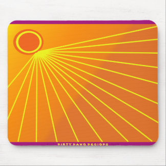 """Sunburst"" Design Custom Mousepad"