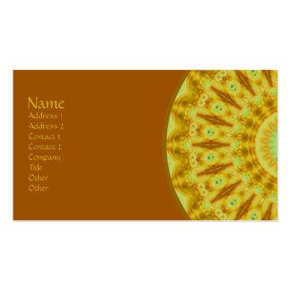 Sunburst Fractal Kaleidoscope Business Card Template