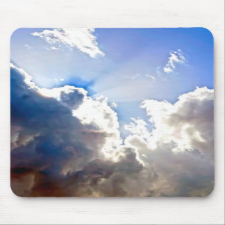 Sunburst from Dark Clouds Mousepad