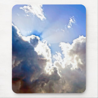 Sunburst from Dark Clouds Mouse Pad