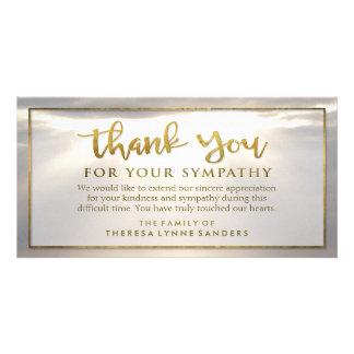 Sunburst Golden Thank You Custom Sympathy Card