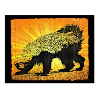 Sunburst Honey Badger Postcard