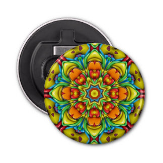 Sunburst Kaleidoscope   Magnetic Bottle Openers