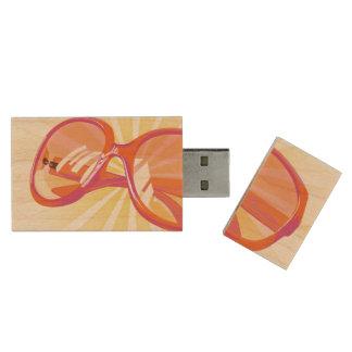 Sunburst & Orange Pink Eyeglasses -USB Thumb Drive