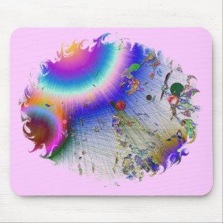 Sunburst Oval Frame Mouse Pad