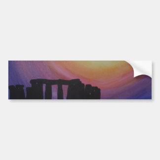 Sunburst over Stonehenge Bumper Sticker