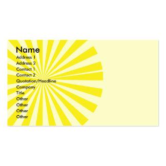 Sunburst Pack Of Standard Business Cards