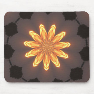 Sunburst pattern mouse pad