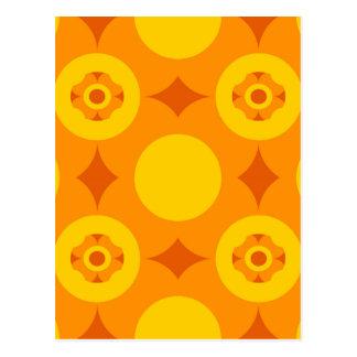 Sunburst Repeatable Circle Pattern Postcard