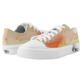 Sunburst Stained Glass Lo Top Printed Shoes