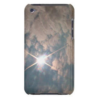 Sunburst through white clouds iPod touch Case-Mate case
