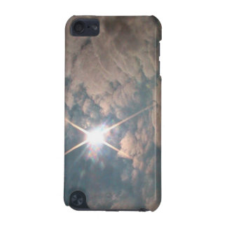 Sunburst through white clouds iPod touch (5th generation) case