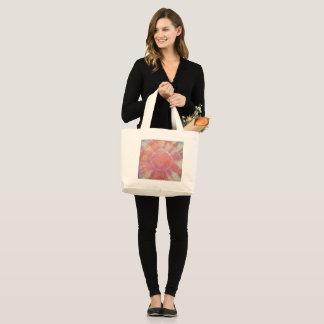Sunburst Tie Dye warm I Large Tote Bag
