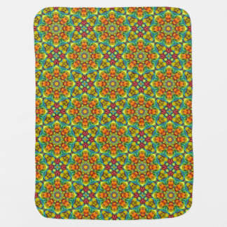 Sunburst  Tiled Design Baby Blankets