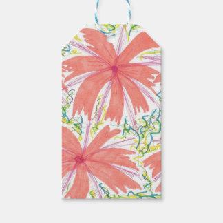 Sunburst Tropical Flower Pattern