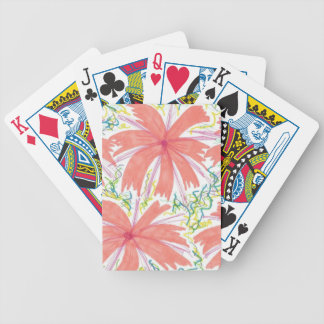 Sunburst Tropical Flower Pattern Bicycle Playing Cards