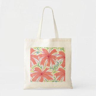 Sunburst Tropical Flower Pattern Tote Bag