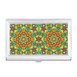 Sunburst Vintage Kaleidoscope Business Card Case
