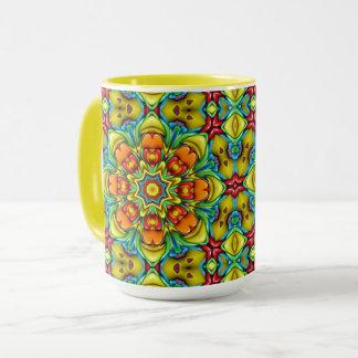 Sunburst Vintage Kaleidoscope  Combo Mug