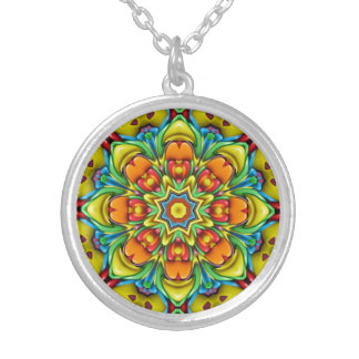 Sunburst Vintage Kaleidoscope Necklaces
