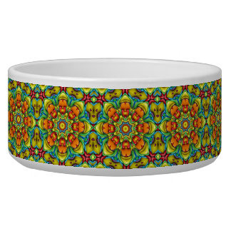 Sunburst  Vintage   Kaleidoscope  Pet Dish