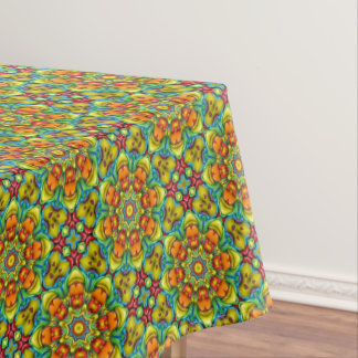 Sunburst  Vintage Kaleidoscope Tablecloth