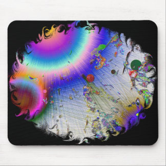 Sunburst with Oval Frame Mouse Pad