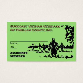 Suncoast Vietnam Veterans Assoc Mbr Card