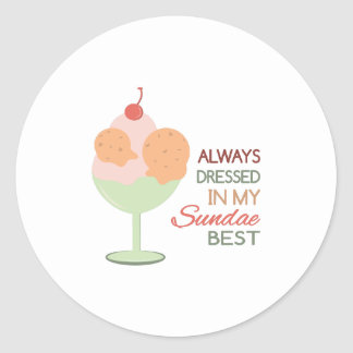 Sundae Best Round Sticker